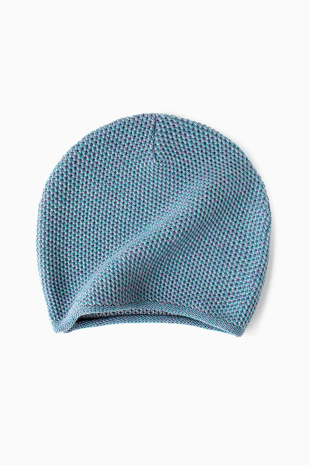 Knit Beanie - Teal Mouline