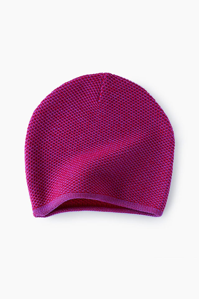 purple merino wool hat