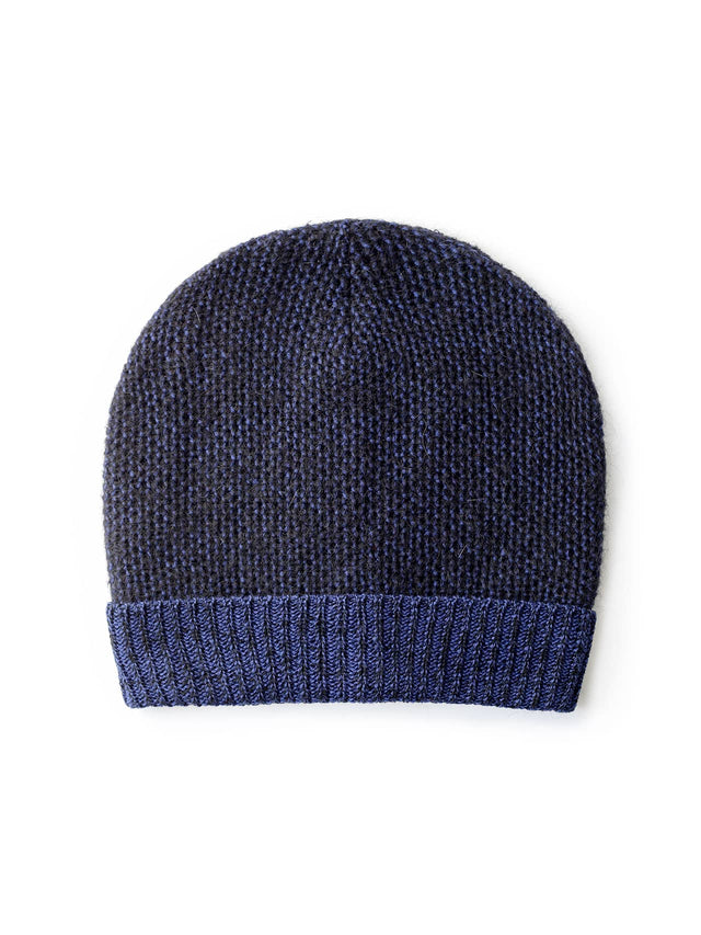 Paintbrush Beanie - Black & Blue