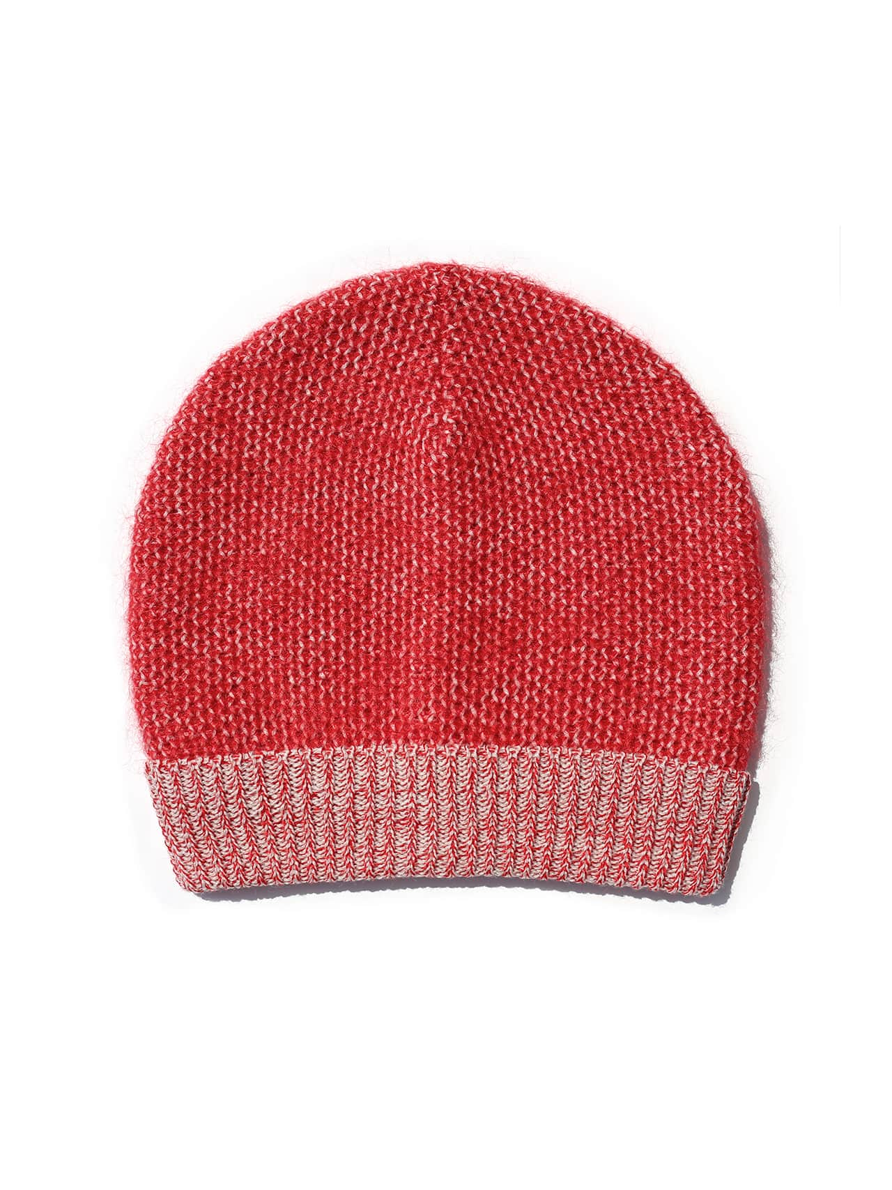 Paintbrush Beanie - Red & Ivory