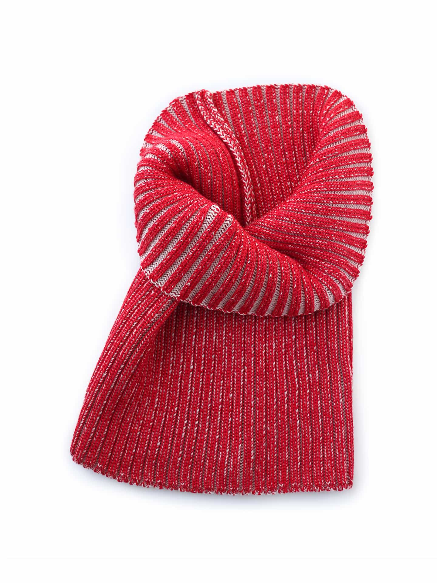 Neck Scarf - Red & Ivory