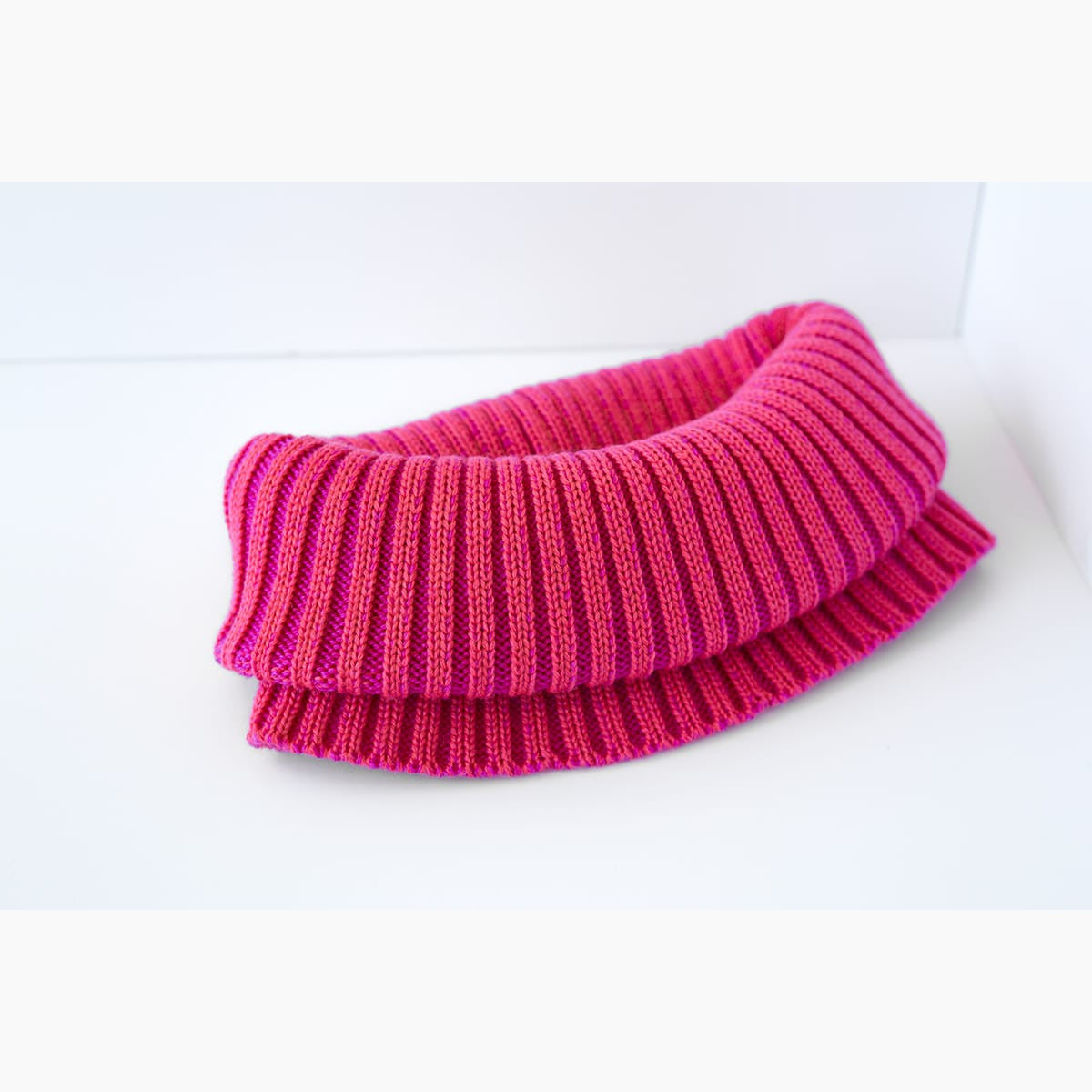 Neck scarf - hot pink and salmon
