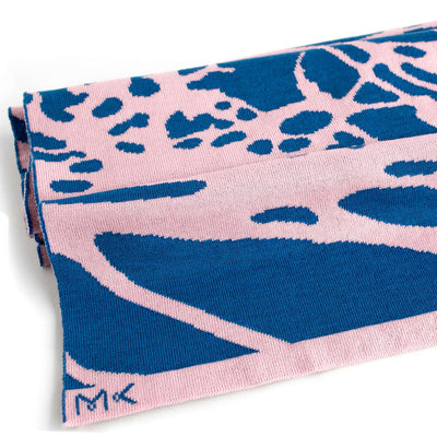 Painted Tree Scarf - Candy Pink & Blue