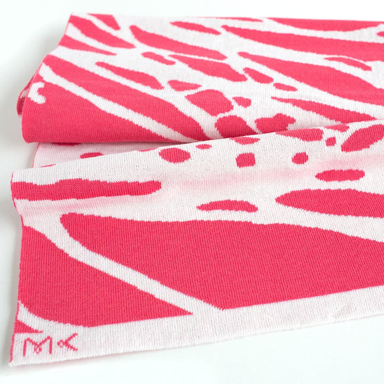Painted Tree Scarf - Salmon & White