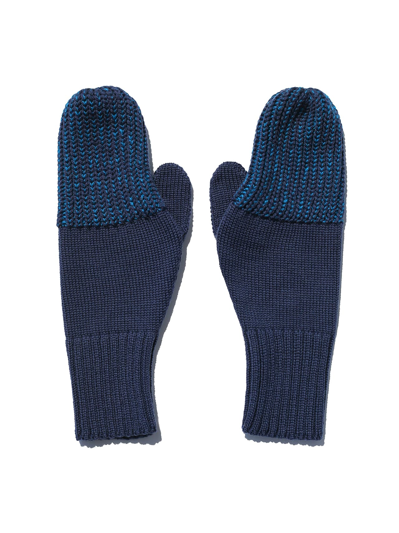 reshaped mittens - electric blue