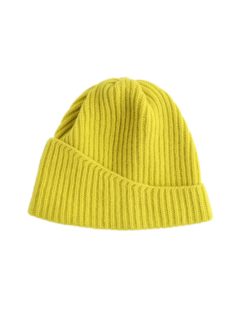 Reshaped Beanie Lambswool - Yellow