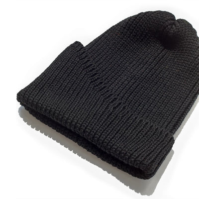 Reshaped Beanie merino - Black