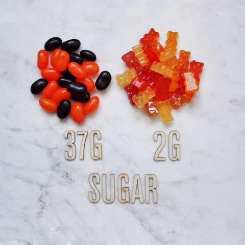 50g of Halloween jelly beans sugar content