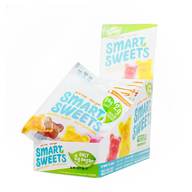 Fruity Low Sugar Gummy Bears - BOX (12 bags)