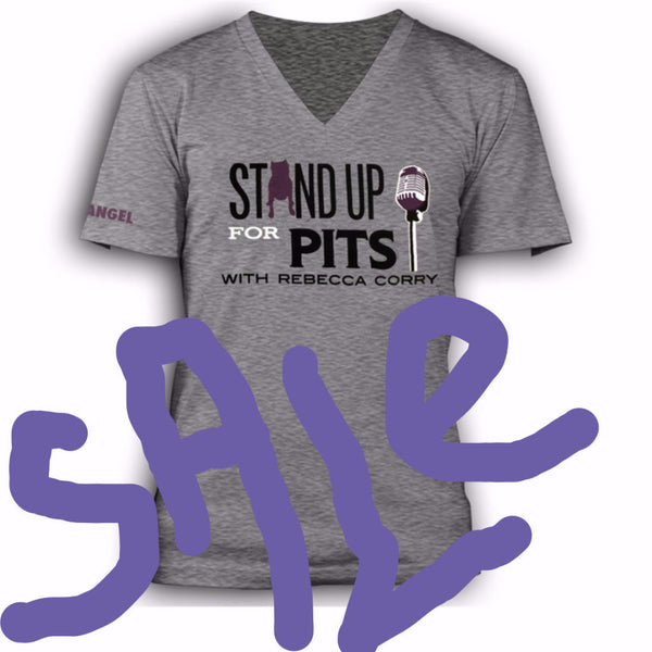 Stand Up For Pits with Rebecca Corry Classic unisex V-Neck Tee