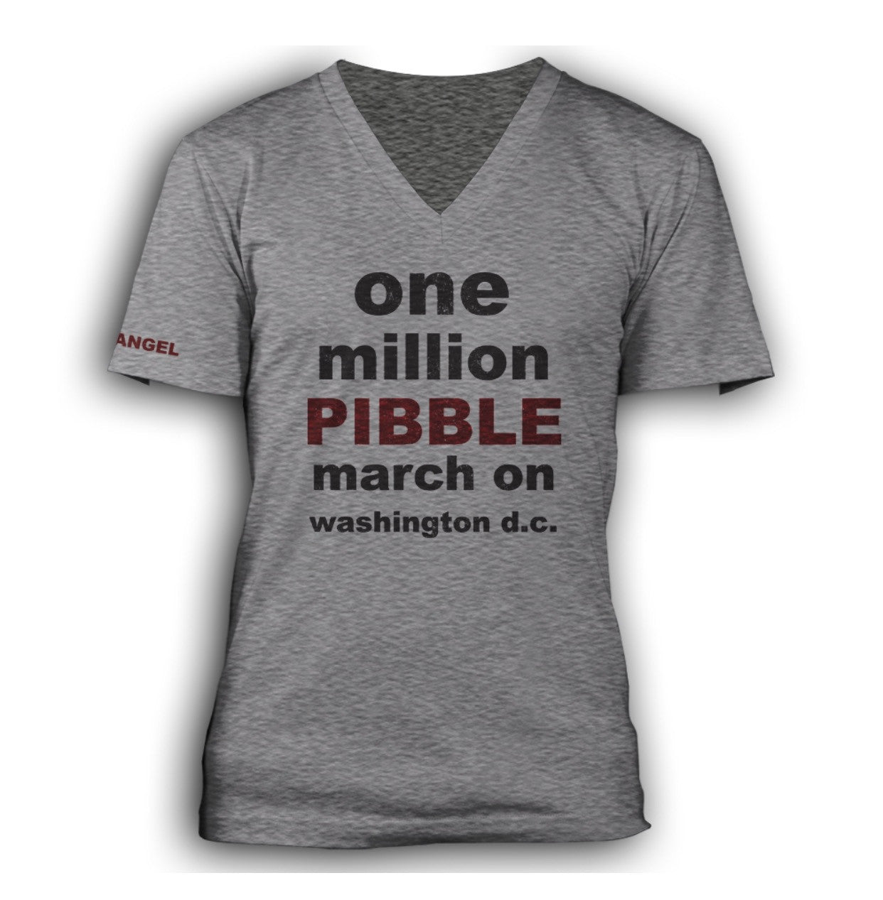 One Million PIBBLE March unisex V-Neck Tee
