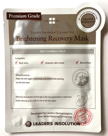 Leaders Coconut Gel Brightening Recovery Mask