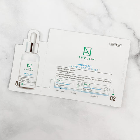 AMPLE:N HYALURON SHOT AMPOULE  2-STEP  MASK