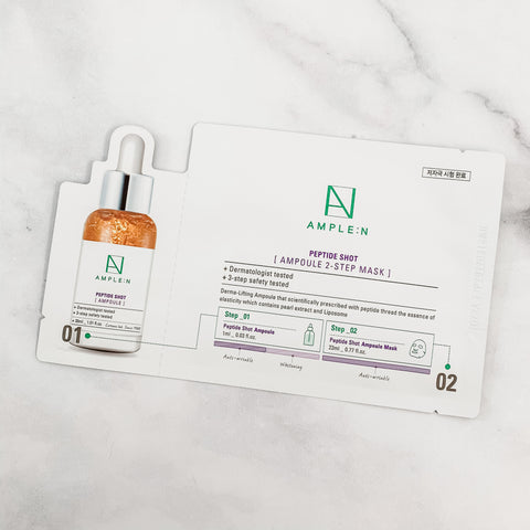 AMPLE:N PEPTIDE SHOT AMPOULE  2-STEP  MASK