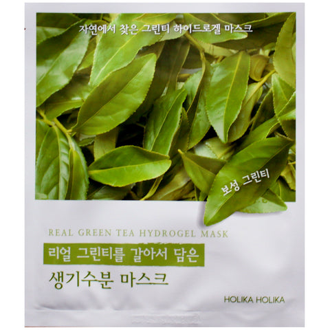 HOLIKA HOLIKA GREEN TEA HYDRO GEL MASK FOUND IN FROM NATURE