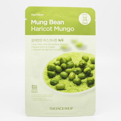 The Face Shop Mung Bean Sheet Mask (Pores)