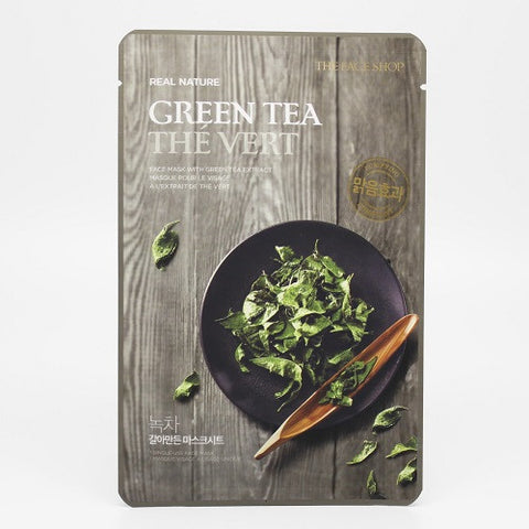 The Face Shop Real Nature Green Tea Face Mask (Purifying)
