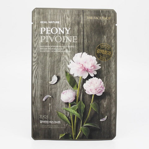 The Face Shop Real Nature Peony Face Mask (Radiance)