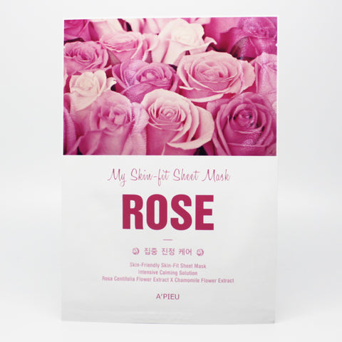 A'pieu My Skin-Fit Rose Sheet Mask