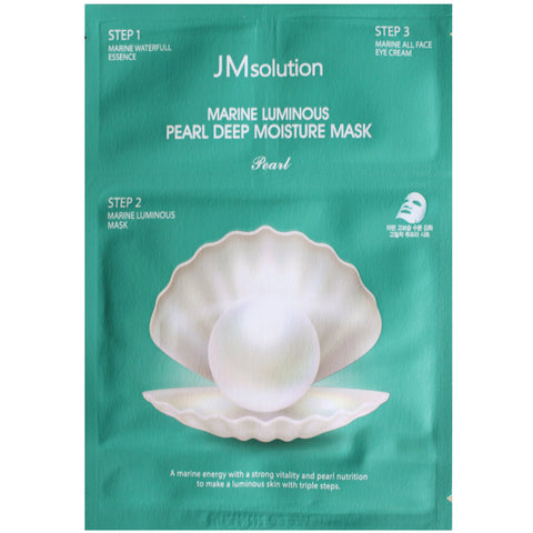 JM SOLUTION 3-STEP MARINE LUMINOUS PEARL DEEP MOISTURE MASK