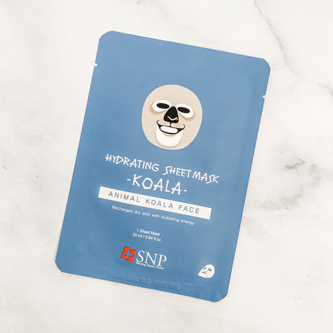 SNP ANIMAL KOALA HYDRATING SHEET MASK