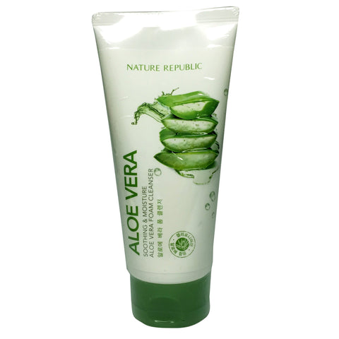 Nature Republic Aloe Vera Soothing & Moisture Aloe Vera Foam Cleanser