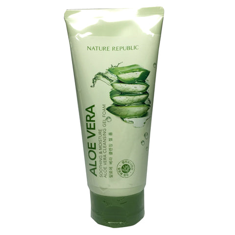 Nature Republic Aloe Vera Soothing & Moisture Aloe Vera Cleansing Gel Foam