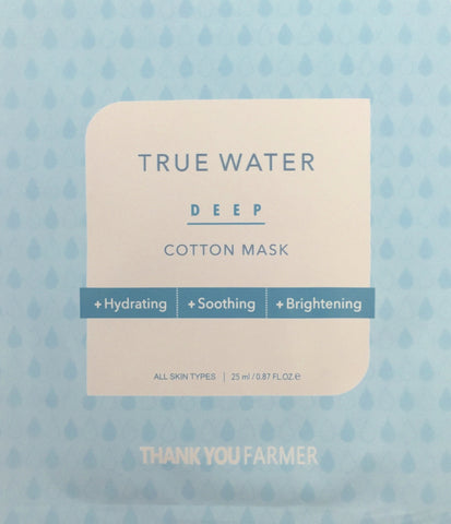THANK YOU FARMER True Water Deep Cotton Sheet Mask
