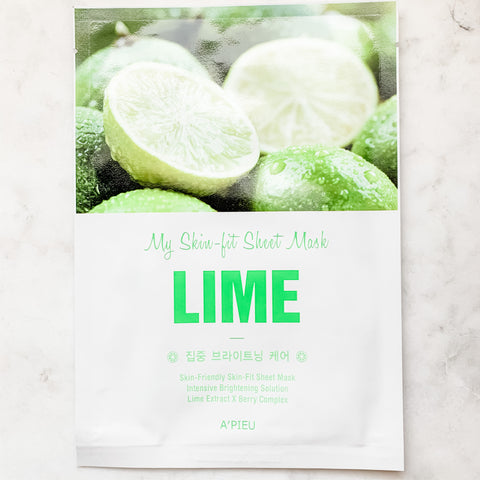 A'pieu My Skin-Fit Lime Sheet Mask