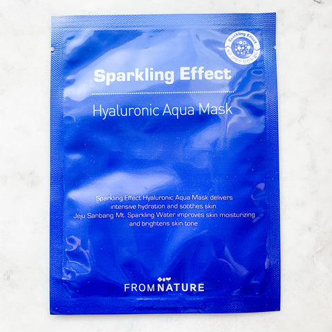 FROM NATURE SPARKLING EFFECT HYALURONIC AQUA MASK