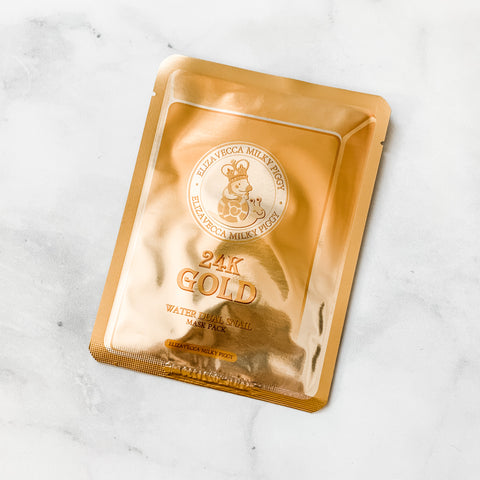 ELIZAVECCA 24K GOLD WATER DUAL SNAIL MASK PACK