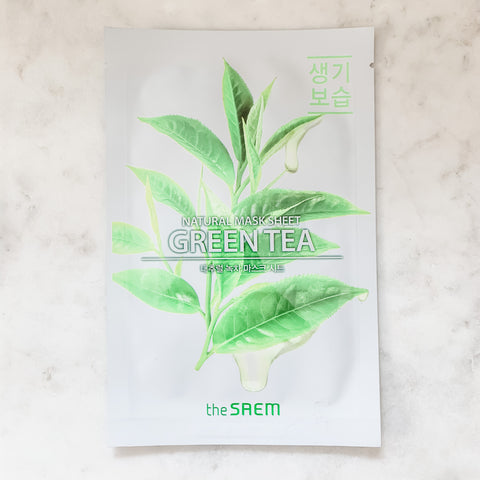 THE SAEM NATURAL SHEET MASK SHEET  (VARIOUS)