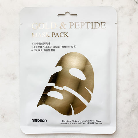 MEDERA GOLD & PEPTIDE MASK PACK