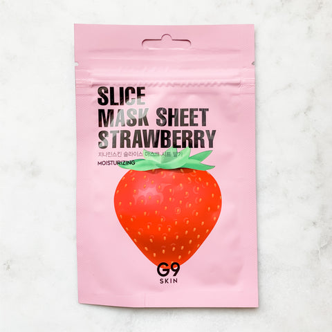 G9 SKIN SLICE MASK SHEET – STRAWBERRY