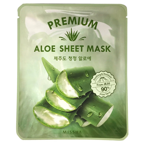 MISSHA PREMIUM ALOE SHEET MASK PACK (5 SHEETS)
