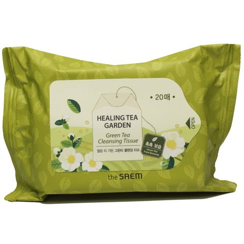 THE SAEM HEALING TEA GARDEN GREEN TEA CLEANSING TISSUE