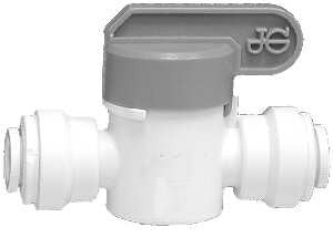 POLYPROPYLENE PUSH-IN SHUT OFF VALVES FOR POTABLE WATER