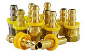 BRASS PUSH-ON HOSE BARB FITTINGS
