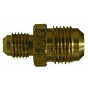 Legines Brass Tube Fitting 5//16 Flare Male to 1//4 NPT Male Pack of 2 SAE 45 Degree Flare Adapter Union
