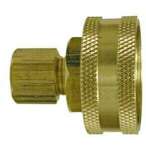 BRASS FEMALE GARDEN HOSE COMPRESSION ADAPTER   Fast Fittings
