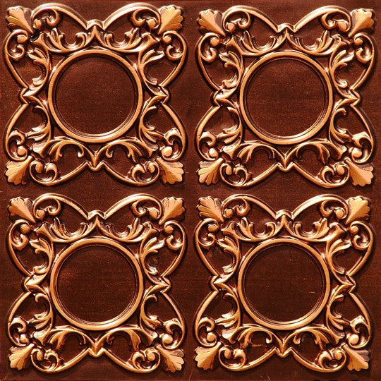 "Faux Tin Ceiling Tile - 24""x 24"" #133 - Designer Ceiling Tiles"