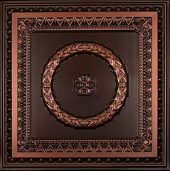"Faux Tin Ceiling Tile - 24""x 24"" #210 - Designer Ceiling Tiles"