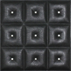 Black Diamond - 3D Faux Leather Tile - 6 Pack #19 - Designer Ceiling Tiles