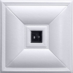 Mirror (Smoked) White - 3D Faux Leather Tile - 6 Pack #11 - Designer Ceiling Tiles