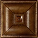 Mirror Caramel - 3D Faux Leather Tile - 6 Pack #11 - Designer Ceiling Tiles