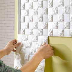"3D BRICK WALL WALLPAPER -Self Adhesive Backing - 11""x 22.8"" - Designer Ceiling Tiles"