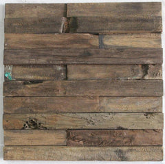 "3D Wood Panel Mosaic Tile, Rustic Antique, 11 pcs., 12""x12"" - Designer Ceiling Tiles"