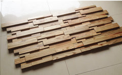 "3D Wood Panel Mosaic Tile, Rustic Antique, 11 pcs., 12""x24"" - Designer Ceiling Tiles"