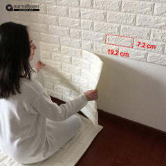 "3D BRICK WALL WALLPAPER - 30.3""x 27.6"" - Designer Ceiling Tiles"