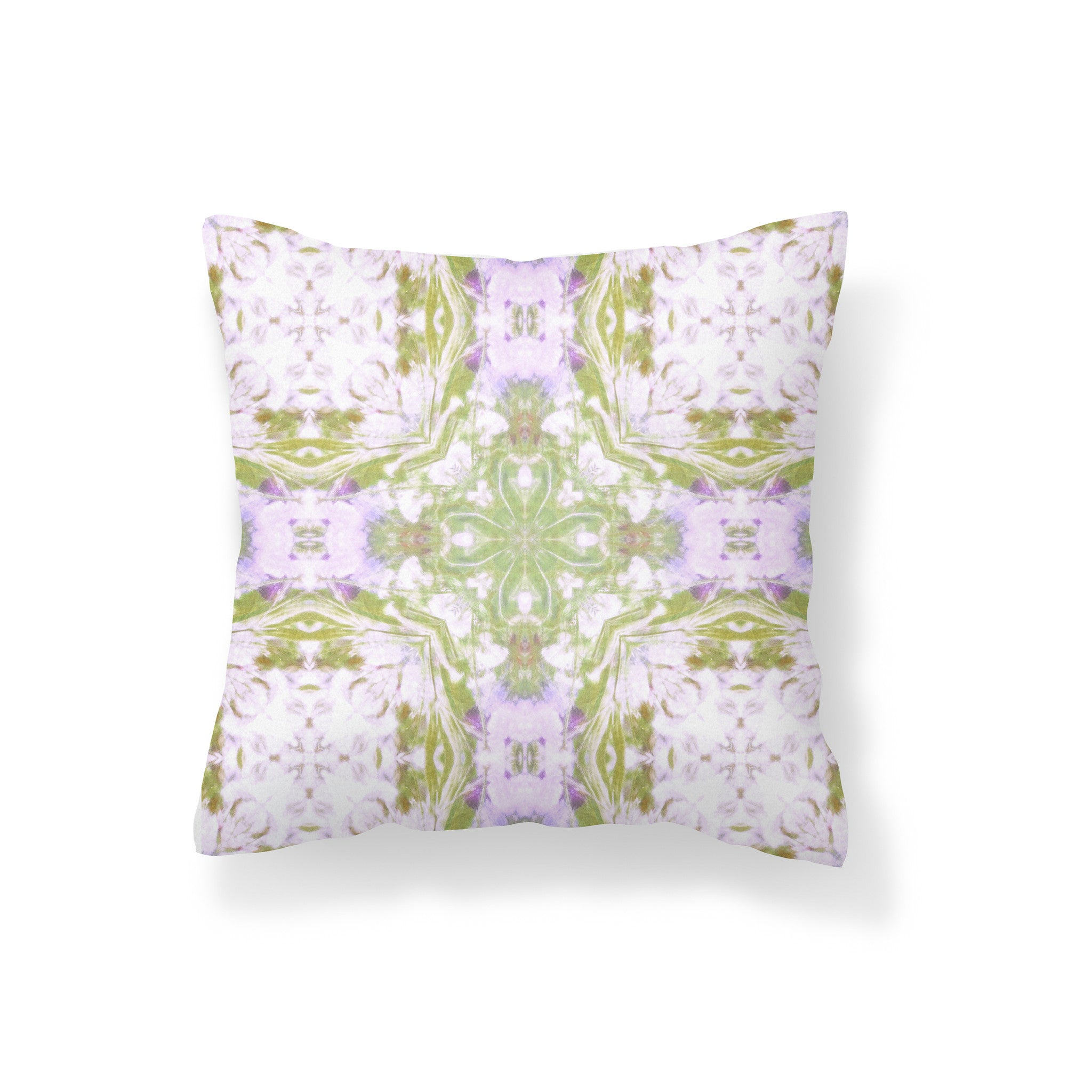 Golden Field With Flowers Branch Pillow